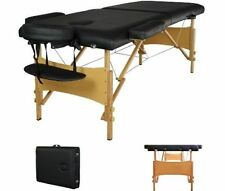 """2"""" Pad 84"""" Black Portable Massage Table W/Free Carry Case Chair Facial Spa Bed T"""