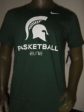 Nwt Men's Medium Nobel Green Nike Elite basketball Michigan State Spartans Shirt