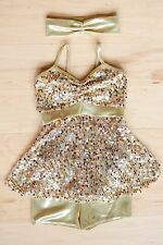 A Wish Come True (11424) Gold ballet/competition recital pageant Size ISC 6x-7