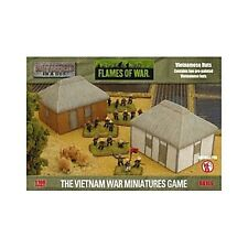 Flames of War Battlefield in a Box Scenery Vietnamese Village Huts (BB169)