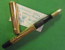 Waterman 0552 Gold Fld Fountain Pen PURPLE KEYHOLE Nib Fine Point Writer vtg 52