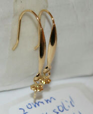 20mm length 18k solid yellow gold dangle