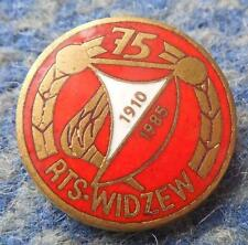 WIDZEW LODZ 75 ANNIVERSARY /1910-1985/ POLAND FOOTBALL BASKETBALL PIN BADGE