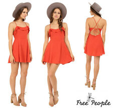 FREE  PEOPLE  * MORE THAN A MINI  * LACE UP OPEN BACK  DRESS   Sz L  NEW   $ 78