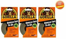 """Gorilla Glue Tape To Go - Handy Roll 1"""" x 30', Duct Tape - 3 PACK"""