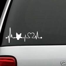 K1017 Dog Heartbeat© Lifeline Monitor Decal Sticker for Car Truck SUV Van LAPTOP