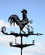 Rooster Chicken Metal Weathervane Roof Mount Weather Vane Wind Decor