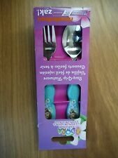 DORA the EXPLORER by ZAK easy grip kids cutlery BNIP BPA free (fork + spoon)