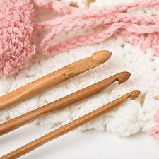 12pcs/Satz Häkelnadeln Stricknadeln aus Bambus Pullover Machen Stricken Werkzeug
