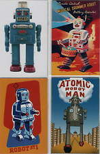 4er set robot imanes Antik Tin Toy Atomic Robotman esmoquin robot set Nº 6