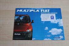 95290) Fiat Multipla Bipower + Bluepower Prospekt 02/2001