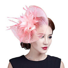 Kentucky Derby Feather Tea Party Sinamay Fascinator Hat Clip Headband Hairband