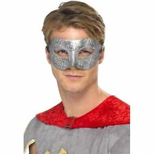 Mens Metallic Warrior Colombina Eye Mask Fancy Dress Costume Masquerade Spartan
