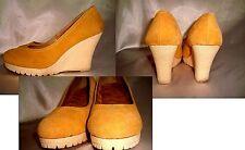 true Vtg 70s-80s Boho Hippie wedge platform rubber gum heels shoes loafer clog 8