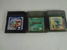 DISNEY BEAUTY AND THE BEAST TARZAN MONSTER INC BUNDLE Nintendo GameBoy FREE SHIP