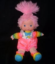 "16"" VINTAGE 1983 RAINBOW BRITE TICKLED PINK DOLL GIRL STUFFED PLUSH TOY HALLMARK"