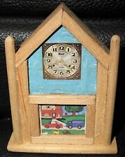 Doll House Hand Made Furniture, Mantle Clock, Very Nice!  Vintage.