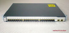 Cisco WS-C3750-24FS-S 24-Port 100BaseFX w/2 SFP Ports mit Funktionsprotokoll