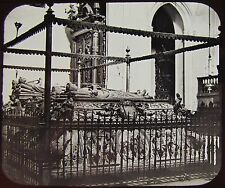 Glass Magic Lantern Slide TOMB OF FERDINAND AND ISABELLA  C1890 PHOTO SPAIN
