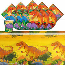 Prehistoric Dinosaurs Children's Birthday Complete Party Tableware Pack For 16