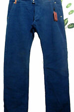 Missoni Mens Blue Velvet Casual Pants Size 40 100% Cotton Made in Italy NEW
