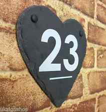 Personalised Engraved Large Slate Heart House Number & Name Door Plaque Sign