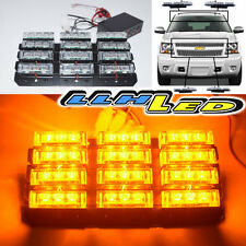 36 LED SECURITY EMERGENCY FLASH STROBE LIGHT AMBER DASH/GRILLE/BAR WARN LAMPS M