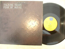 TALKING HEADS LP FEAR OF MUSIC sire / srk 6076 rare Portugal issue + g/f insert