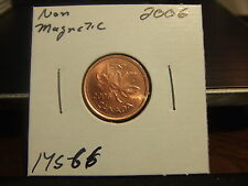 CANADA ONE CENT 2006 Non-Magnetic ! MS-GEM !!!!!!