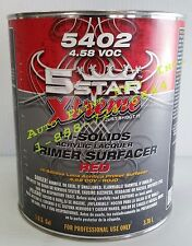 ACRYLIC LACQUER RED PRIMER SURFACER HIGH SOLIDS 5 STAR EXTREME AUTO PAINT
