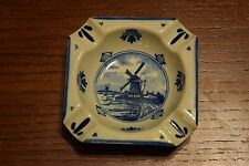 Delft Blue Windmill Ashtray Handpainted Made in Holland
