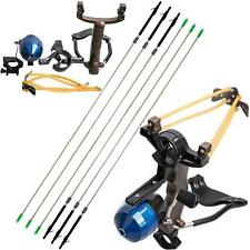 Fishing Reel Slingshot Archery Slingbow Hunting Catapult Shooting Carbon Arrows