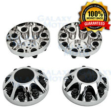 "08-10 Chevy Silverado DUALLY Chrome 17"" 2x Front Wheel Center Hub Cap Cover"