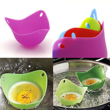 Silicone Egg Poacher Poaching Pods Pan Poached Cups Mould Kitchen DIY Baking 4pc