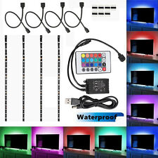 4x 40cm USB LED Home Theater TV BackLight Accent RGB Multi-Color Strip Light Kit
