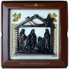 "Bronze Nativity Crib Plaque 6"" (TF10) - Island Turf Crafts"