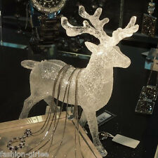 New Christmas Decor Acrylic Deer Elk Xmas Party Decoration Ornament Holiday Gift