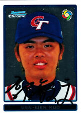 Yen-Wen Kuo Taiwan Star 2009 Bowman #BCW46 World Baseball Classic SIGNED CARD