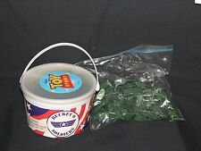TOY STORY BUCKET OF ARMY MEN PLUS BAG OF MEN TOTALLING OVER 135 MEN PRETEND PLAY