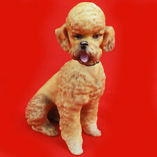 "POODLE Figurine TAN NEW NEVER SOLD 4.5"" tall made in GERMANY made by KAISER"