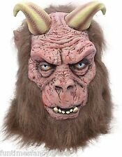 Halloween Devil Demon Mask With Horns Satanic Beast Horror Lucifer Fancy Dress