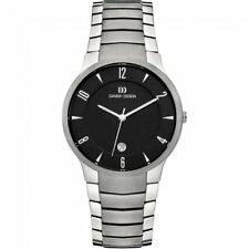 Danish Design IQ63Q1018 Black Dial Titanium Quartz Classic Sapphire Men's Watch