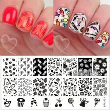 Nail Art Stamp Template Candy Cupcake Image Stamping Plate BP-L023 12.5 x 6.5cm