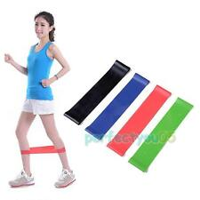 4 Resistance Tube Set Home Gym Fitness Exercise Workout Heavy Yoga Training Band