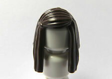 Lego 1 Hair Wig For Female Girl Minifigure  Long Straight Dark Brown