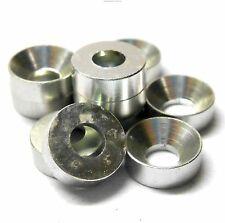 L1434 M3 3mm Countersunk Washer Alloy Aluminium Chrome Silver x 10