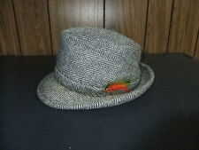 vintage fedora hat wool cloth small 60's