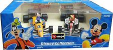 Burago Goofy and Mickey, Disney Racing Cars Twin Set 1:24 Scale 2801 BNIB