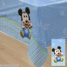 MICKEY MOUSE 1st BIRTHDAY PLASTIC TABLECOVER ~ First Party Supplies Decorations
