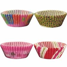 200x Assorted Paper Cupcake Cases Set! Baking Oven Case
